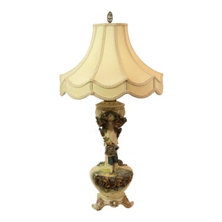 Majolica French Pottery Lamp