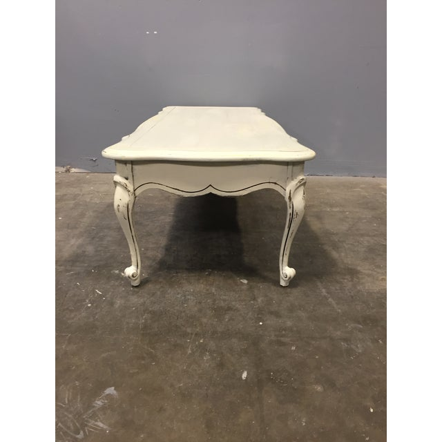 Image of White Shabby Chic Low Coffee Table