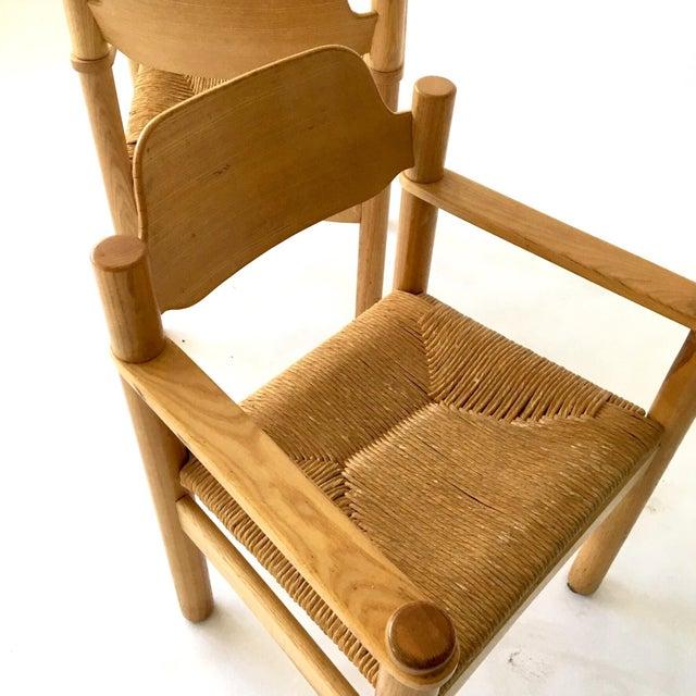 Italian Rush Seat Armchairs - Pair - Image 5 of 6