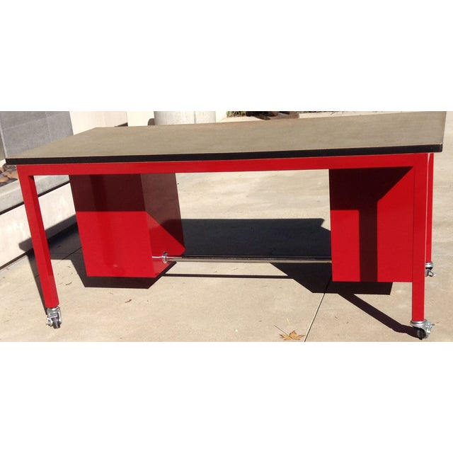 Red Powder Coated Steel Work Station - Image 5 of 5