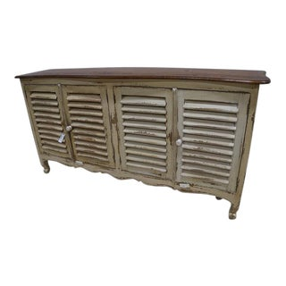 French Provincial Cream Shutter Cabinet Buffet