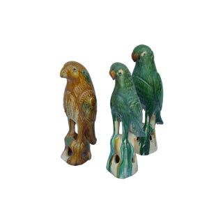 Selection of Majolica Parrots