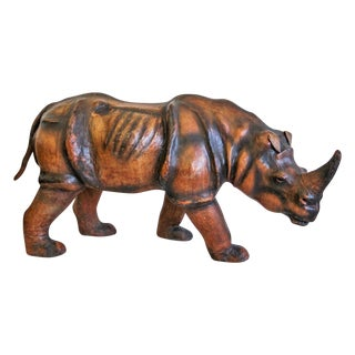 Massive Vintage Leather Rhinoceros