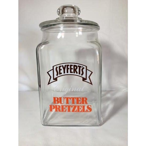 Vintage Seyfert's Original Butter Pretzel Jar - Image 2 of 3