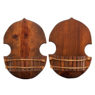 Pair of Japanese Style Wood Brackets, C. 1960s