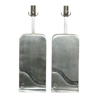 Pierre Cardin Stainless Steel Capsule Lamps