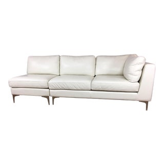 American Leather Design Within Reach Sofa