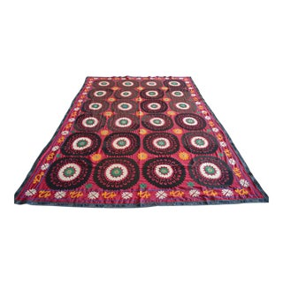 Big Size Colorful Suzani Bedspread