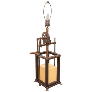 Industrial Age Mechanical Grinder Table Lamp