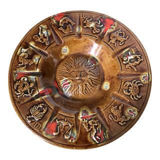 Vintage Zodiac Pottery Ash Receiver Dish Catchall