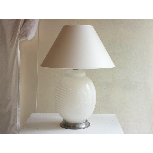 White Murano Table Lamp - Image 4 of 4
