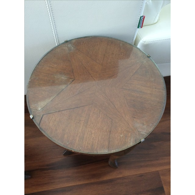 Vintage Inlaid Teak Accent Tables - A Pair - Image 5 of 7