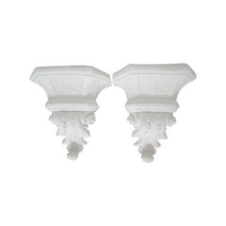 Acanthus Leaf Architectural Wall Pockets - Pair