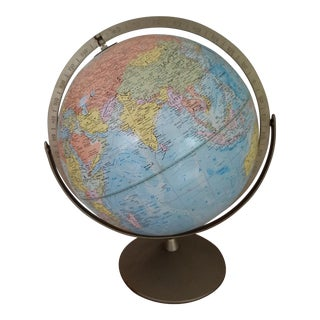 Vintage Rotating World Globe