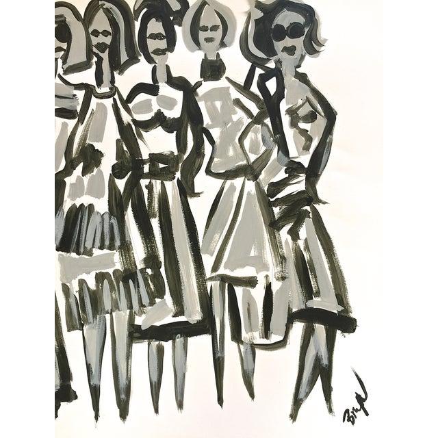Original Fashion Illustration on Paper - Image 4 of 4