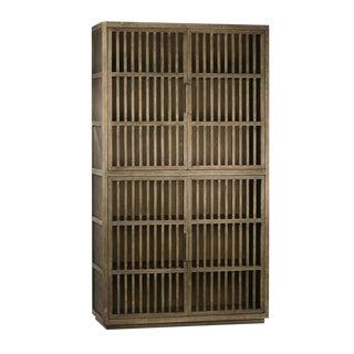 Burnt Oak Wood Cabinet
