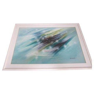 Modernist Abstract Painting Cityscape Waterscape