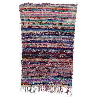 "Boucherouite Moroccan Carpet - 6' x 3'9"""