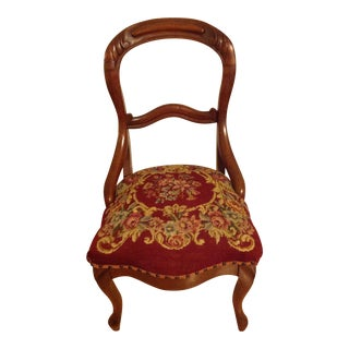 Queen Anne Needlepoint Side Chair