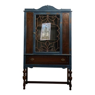 Vintage Curio and China Cabinet