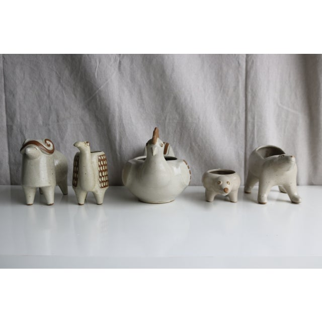David Stewart Ceramic Animal Planters - Image 7 of 8