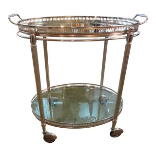 Maison Jansen Style Silver Plated Cart