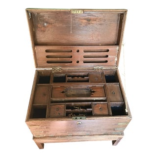 Antique Asian Money Spice Chest