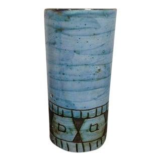 Vintage Blue Ceramic Vase