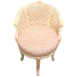 Pink Leopard Print Upholstered Chair