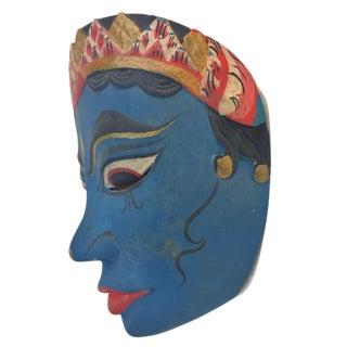 Vintage Hindu Wood Carved India Goddess Wall Mask