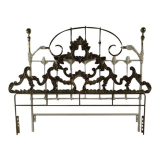 Vintage Metal Queen Size Bed Frame