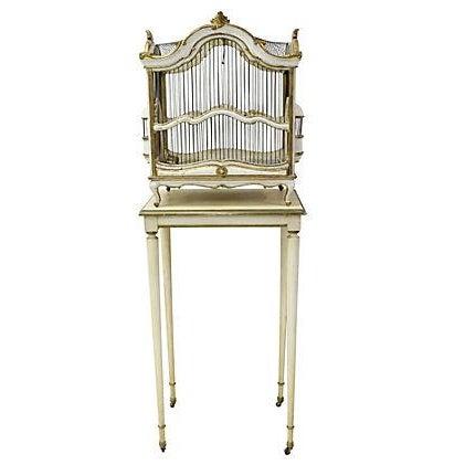 Image of Florentine Birdcage & Pedestal