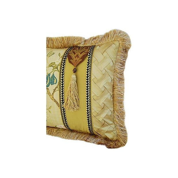 Italian Scalamandré Melograno Lampas Pillow - Image 2 of 7