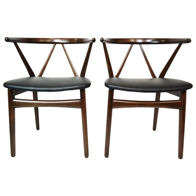 Danish Bruno Hansen Dining Chairs - A Pair - Image 1 of 10