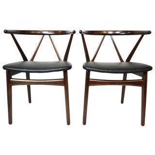 Danish Bruno Hansen Dining Chairs - A Pair