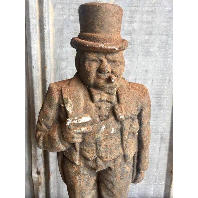 Antique Winston Churchill Cast Iron Andirons - A Pair - Image 4 of 10