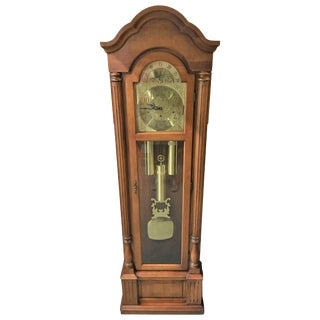 Dark Wood Grandfather Clock