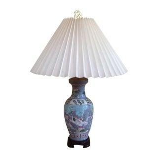 Chinoiserie Ceramic Lamp