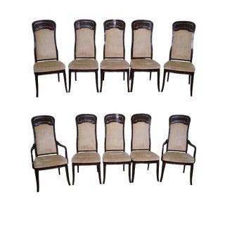 Doezema for Mastercraft Burl Amboyna Dining Chairs - Set of 10
