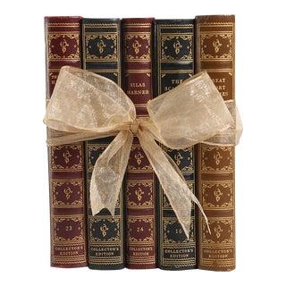 1930's Vintage Book Gift Set, Petite Leather Classics, S/5