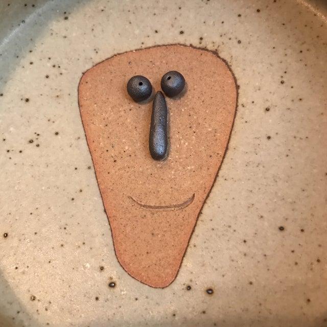 Japanese Stoneware Face Ashtrays - A Pair - Image 9 of 9