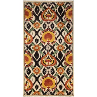 """Arts & Crafts Hand Knotted Area Rug - 5'3"""" X 9'8"""""""