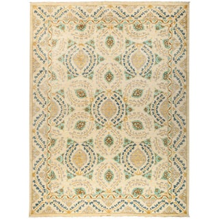"Suzani Hand Knotted Area Rug - 10' 4"" X 13' 9"""