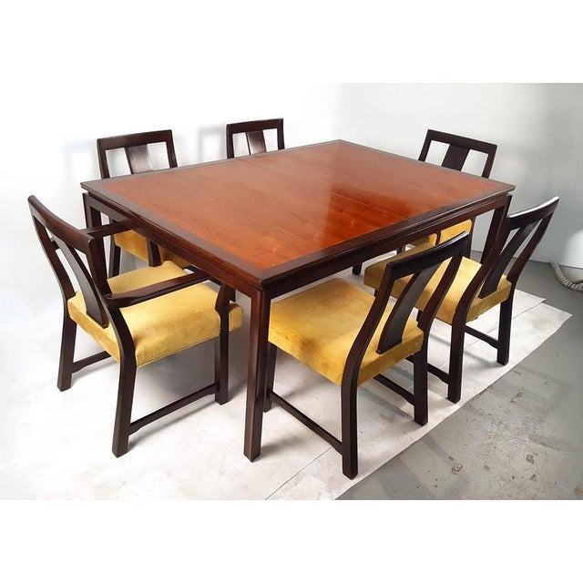 Edward Wormley for Dunbar Formal Dining Table and Chairs - Image 2 of 10