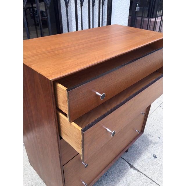 Glenn of California Walnut Highboy Dresser - Image 4 of 5