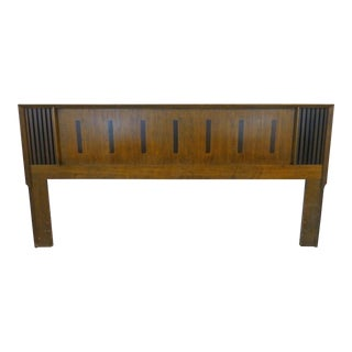Vintage Lane King Size Ribbed Walnut and Rosewood Headboard Hard to Find