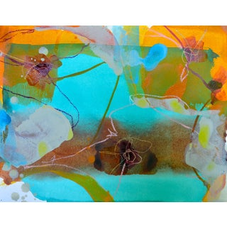 Liz Barber Painting - Blue Flower 1