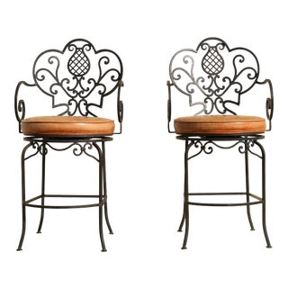 Wrought Iron Custom Made Bar stools - A Pair