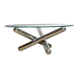 Milo Baughman Chrome Sculptural Coffee Table