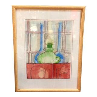 """""""Oil Lamp"""" Watercolor Painting"""